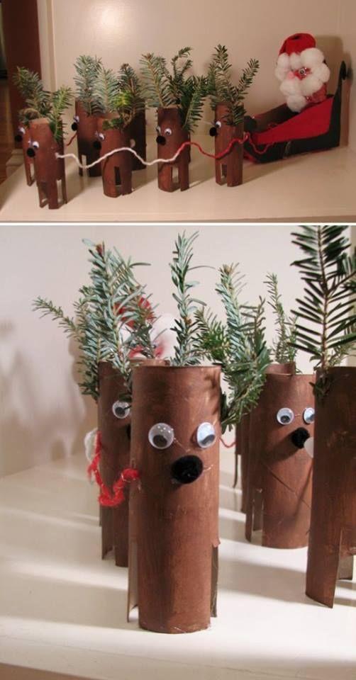 Atividades DIY para as férias de Natal - Rena | Criança