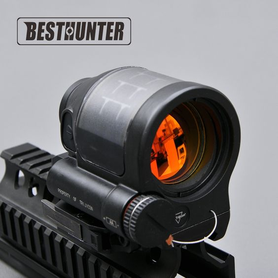 68.00$  Buy now - http://aliq44.worldwells.pw/go.php?t=32686941038 - Tactical Hunting Reflex Sight Solar Power System Trijicon SRS 1X38 Red Dot Sight Scope With QD Mount Optics Rifle Scope 68.00$