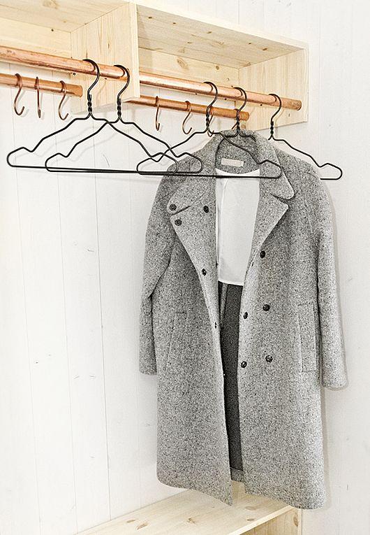 Copper Closet Rod And Grey Coats On Pinterest