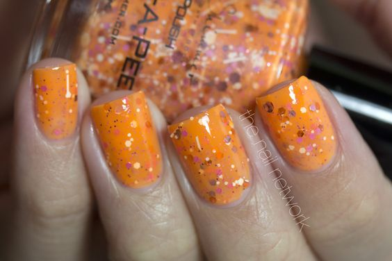 Discontinued- Orange-A-Peel- Neon Orange Nail Polish by KBShimmer