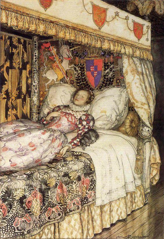 The Sleeping Princess; The Sleeping Beauty - The Allies' Fairy Book, 1916