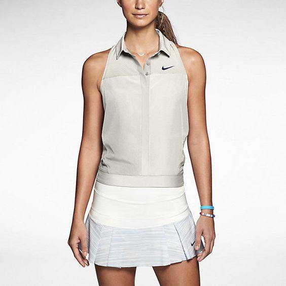 Nike sleeveless tennis t-shirt woman S-M #Nike #ShirtsTops