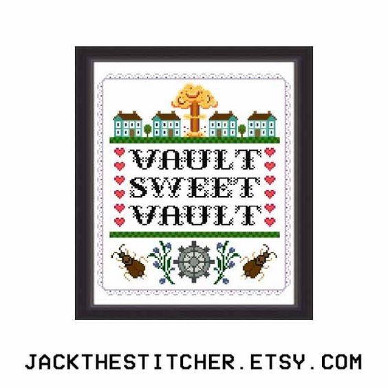 Vault Sweet Vault Fallout Subversive Modern von JackTheStitcher