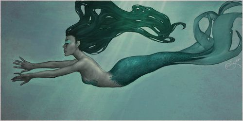 a-siren-song:    mermaid! by ~Wemmsie