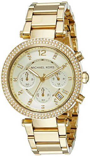 Michael Kors Women's Parker Gold-Tone Watch MK5354 Michae...