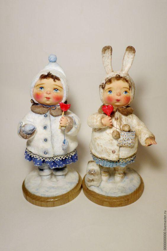 Купить авторская кукла Машенька - рождество, рождественский подарок, рождественский декор, новогодний декор: