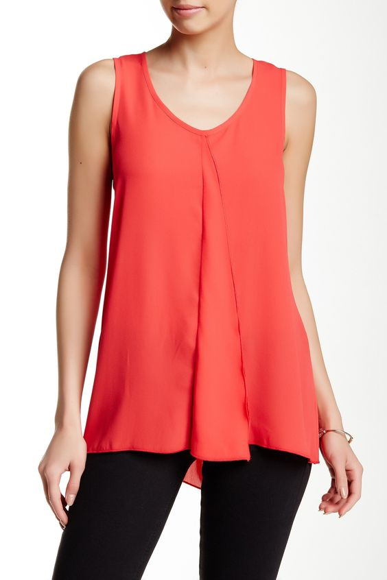 Raw Edge Drape Front Shell by Pleione on @nordstrom_rack