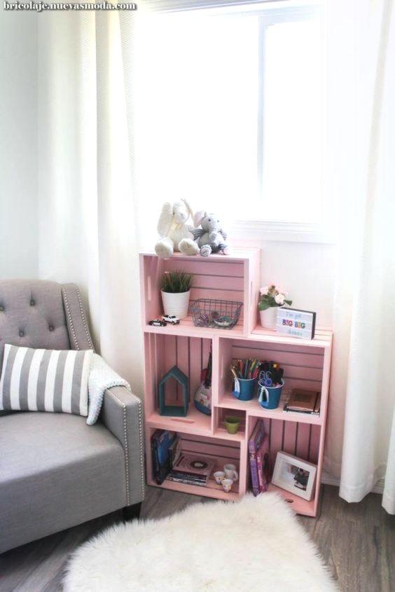 Creativos Y Geniales Decora Tu Habitacion Con Cajas De Madera Bebeazul Top Bookshelves Diy Diy Bookshelf Design Home Decor