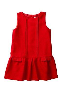 Pleated Drop Waist Dress (Toddler, Little Girls, & Big Girls)