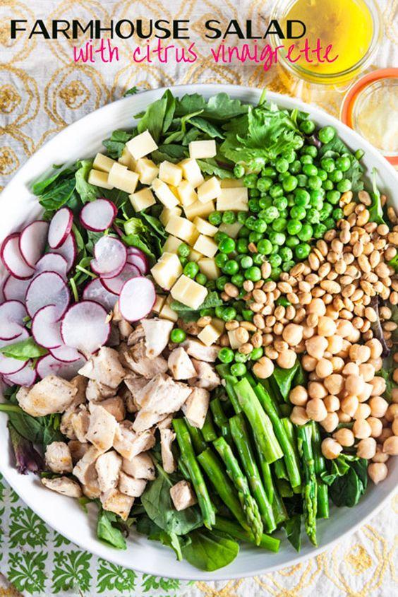 Farmhouse Salad with Citrus Vinaigrette | Recipe | Cheddar ...