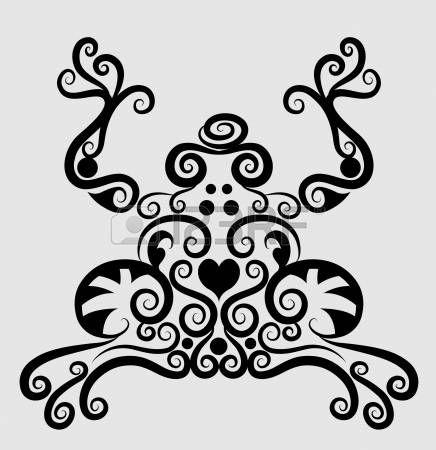 Ornamento decorativo Frog Vectores