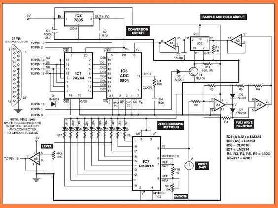 PC Based Oscilloscope Circuit diagram Electronic