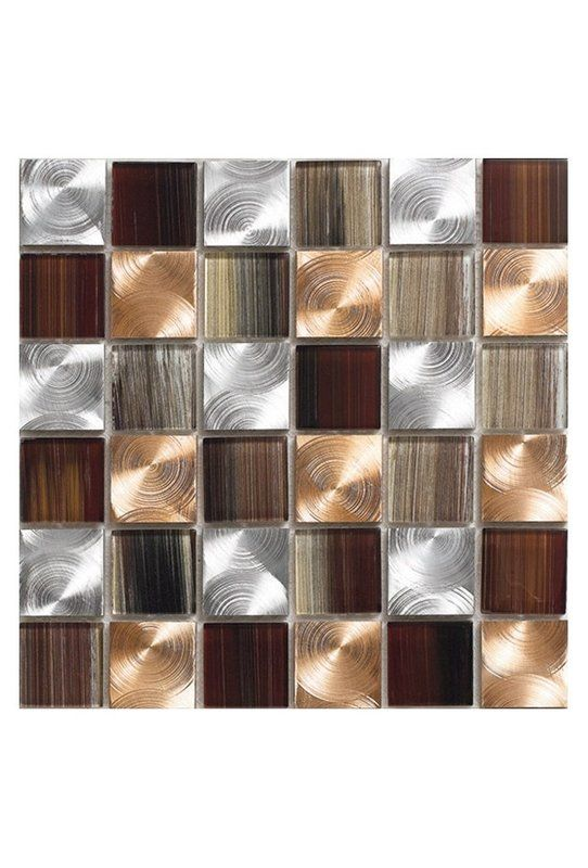 Pearl 12 X 12 Glass Mosaic Tile In Copper Glass Tile Backsplash Metal Mosaic Tiles Glass Backsplash