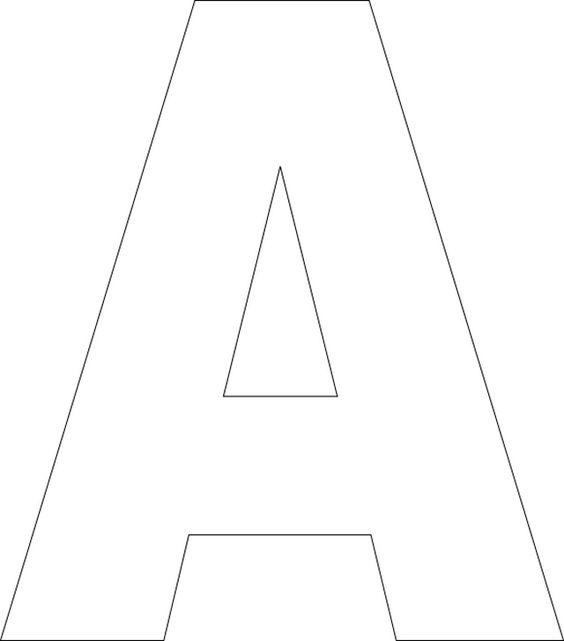 Alphabet Templates | Free Printable Upper Case Alphabet Template Alphabet Templates
