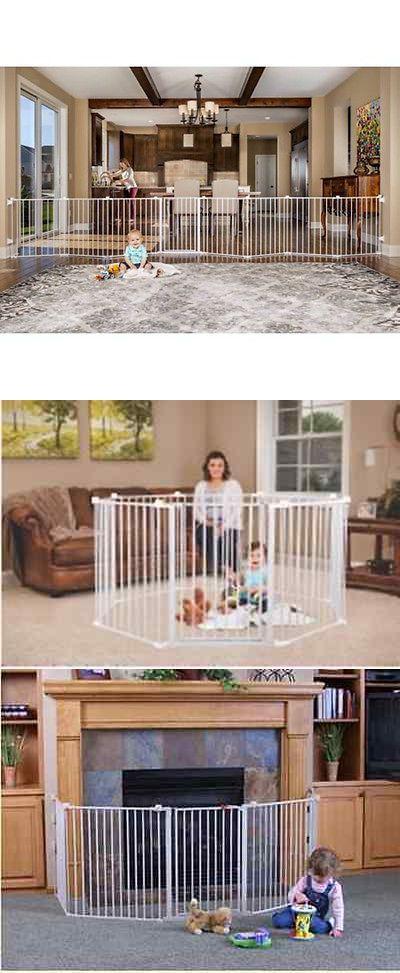 Baby Pet Dog Extra Wide Safety Metal Gate Playpen Indoor Outdoor