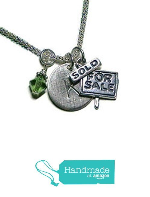 Realtor Hand Stamped Sterling Silver Initial Charm Necklace - For Sale Sold Necklace - Real Estate Jewelry - Realtor Necklace - Realtor Jewelry from Dolphin Moon Creations http://www.amazon.com/dp/B016H2Q7VU/ref=hnd_sw_r_pi_dp_6MQIwb0DK8RN3 #handmadeatamazon