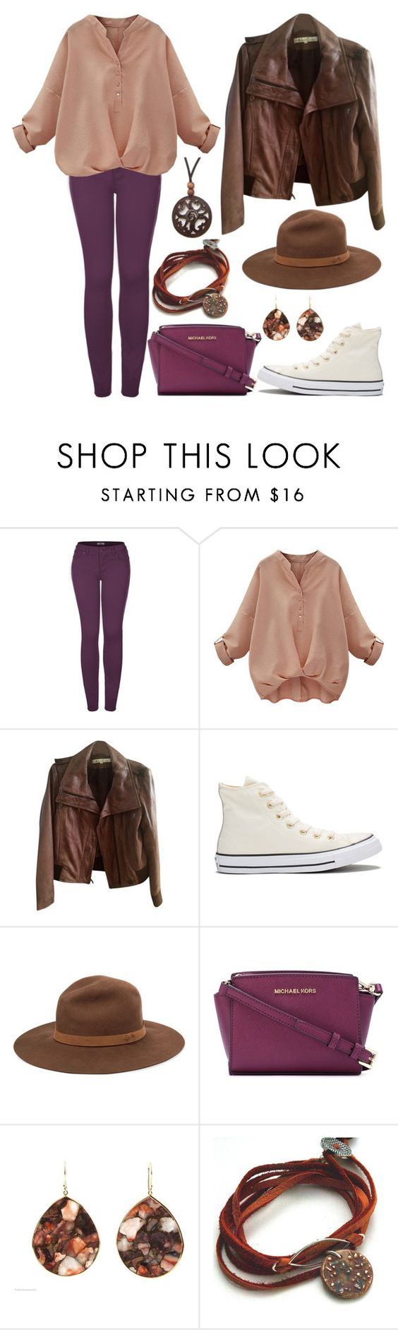 """Boost"" by staysaneinsideinsanity ❤ liked on Polyvore featuring 2LUV, Kenneth Cole, Converse, rag & bone, MICHAEL Michael Kors, Ippolita and NOVICA"