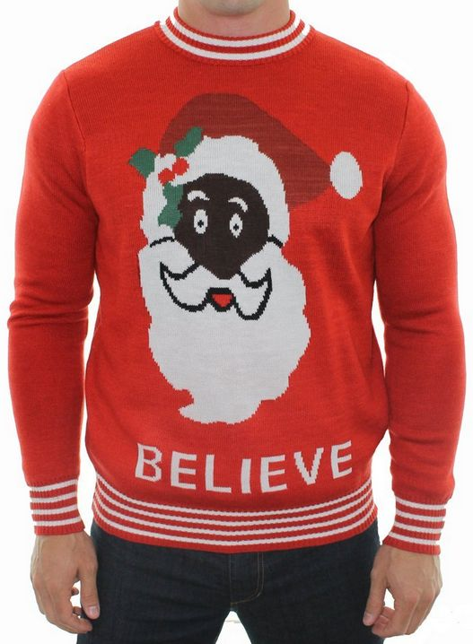Black Santa Sweater by Tipsy Elves: Who ever said Father Christmas ...