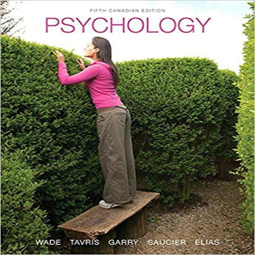 Psychology Canadian 5th Edition By Wade Tavris Garry Saucier And Elias Test Bank Testbankstudy Test Bank And Solutions Manual Download Test Bank Psychology What Is Psychology