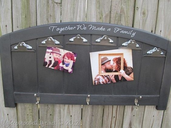 Made from an old headboard