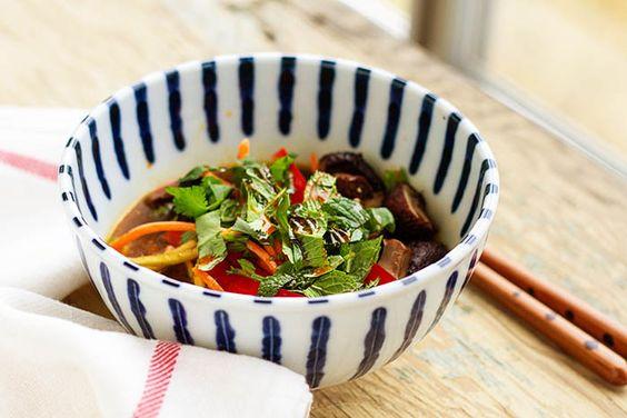 Vegetable & Roasted Mushroom Zucchini Noodle Bowl Recipe — La Fuji Mama