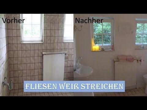 Fliesen Weiss Lackieren Badezimmer Renovieren Belia Youtube