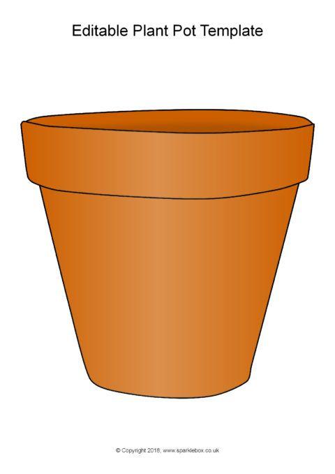 Editable A4 Plant Pot Template Sb12475 Sparklebox Przedszkole