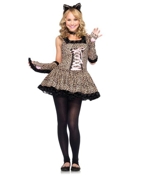 tween costumes for girls | ... Womens Costumes / Teen Halloween Costumes / Jungle Cat Tween Costume | Halloween costumes | Pinterest | Teen halloween ...  sc 1 st  Pinterest & tween costumes for girls | ... Womens Costumes / Teen Halloween ...