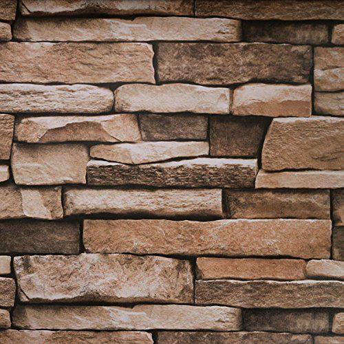 Peel And Stick Wallpaper Stone Wallpaper Self Adhesiv Https Www Amazon Com Dp B0752f3st8 Wood Grain Wallpaper Peel And Stick Wallpaper Stone Wallpaper