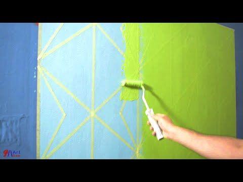 اصنع بنفسك ديكور حائط رائع بالشريط اللاصق بأقل تكلفهdiy New Wall Design Youtube Grid Lines