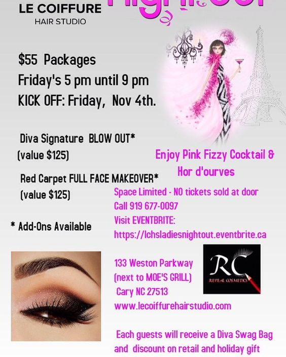 Come out to this fab event. Signup at lchsladiesnightout. Eventbrite.com we will be there slaying faces and showing the new fall shades.