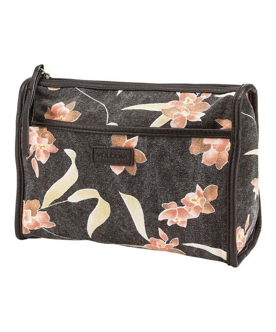 Look at this #zulilyfind! Volcom Black Ciao Bella Cosmetic Pouch by Volcom #zulilyfinds