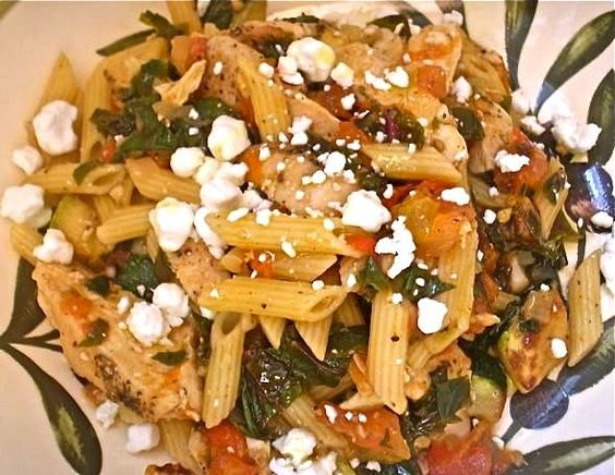 The Briny Lemon: Pan-Seared Chicken and Zucchini Pasta with Red Kale
