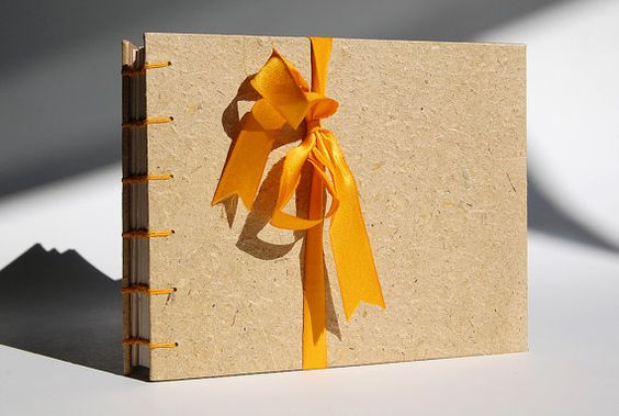 Plant Paper Journal Wheat Straw with Yellow Coptic Binding by LionOfBali