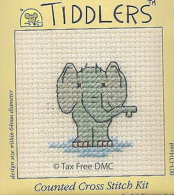 Livre-de-IVA-tiddler-Elefante-contados-cross-stitch-Kit-De-mouseloft-Novo