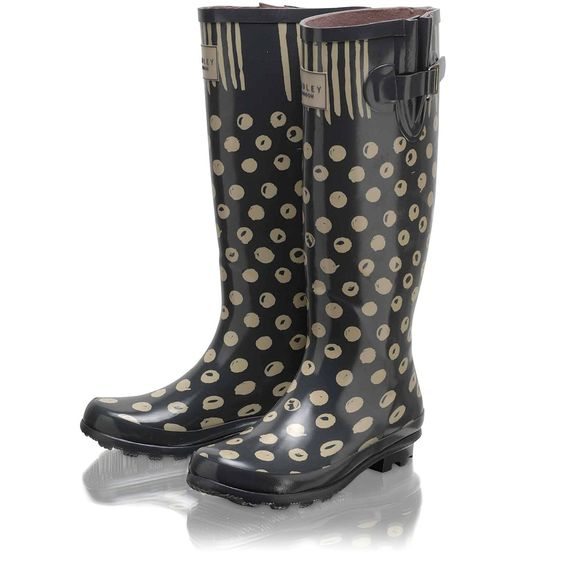 Moon Dots Long Wellie Boot > Buy Wellies Online at Radley