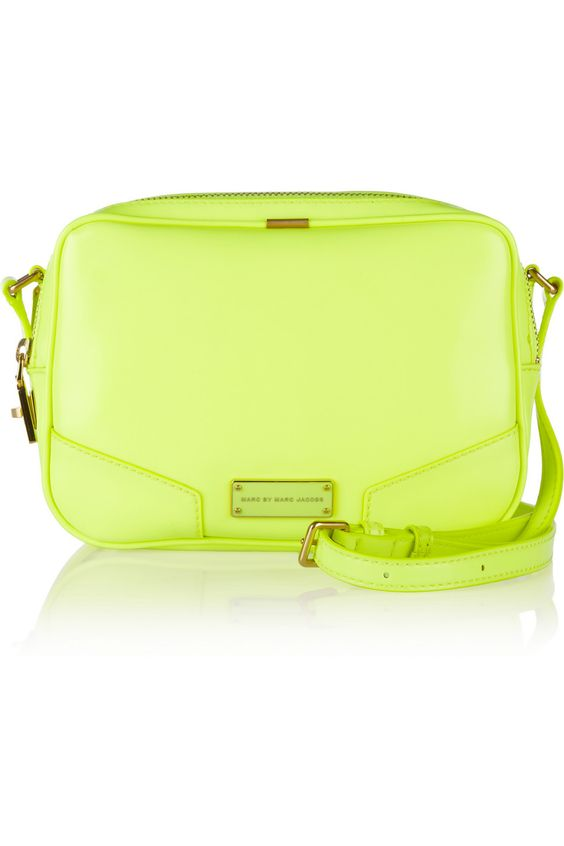 TREAT YO SELF Marc by Marc Jacobs | Alley Katz neon PVC shoulder bag | NET-A-PORTER.COM