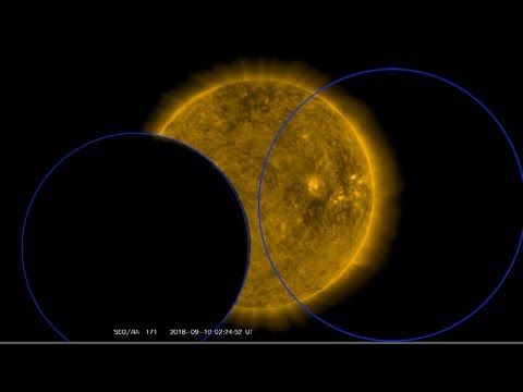 Two Objects Eclipse Sun On Sdo Satellite On 9th Part 1 Sacred