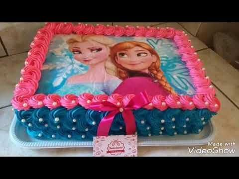 Frozen Elsa Anna Film Cake Special Creative Ideas كيك فروزن السا و ان ا Youtube Frozen Birthday Cake Frozen Birthday Party Cake Birthday Sheet Cakes