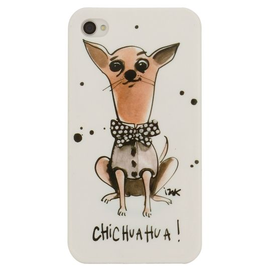 """Chihuahua! iPhone Case  Izak $16  Carry your little darling with you, even when you go to those """"no dogs allowed"""" establishments.  1 snap-together iPhone case   • Plastic   • Compatible with iPhone 4/4S"""