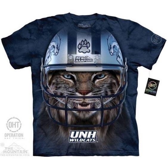 University of New Hampshire T-shirt | Wildcat Warrior Mascot