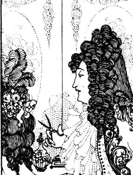 beardsley rape of the lock | Trees outside the window The baron and his scissors
