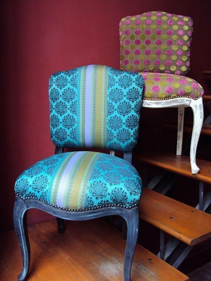 Sillas luis xv restauradas y patinadas tapizadas en telas for Sillas negras tapizadas