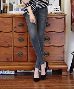 CP02792 Slim pencil jeans elasticity spring long pants