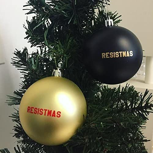 Amazon Com Get Bullish Resistmas Holiday Christmas Ornament In Gold And Black 2 Pack Home Ki In 2020 Christmas Ornaments Christmas Holidays Holiday