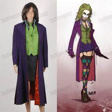 Batman Dark Knight Joker Harley Quinn 5 pcs Cosplay Costume Set(China (Mainland))