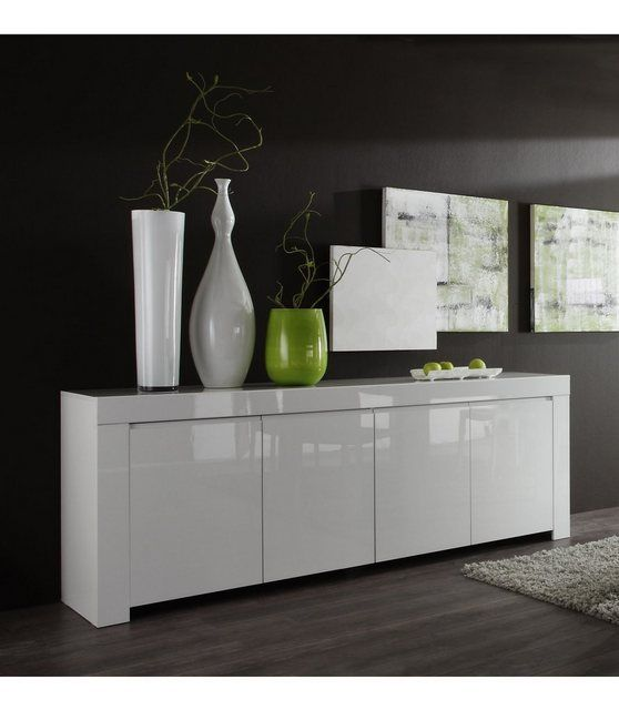 Sideboard Breite 210 Cm In 2020 Anrichte Weiss Silberne Mobel Und Hochglanz