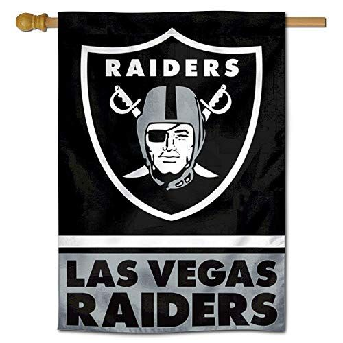 Wincraft Las Vegas Raiders Double Sided House Banner Flag Wincraft In 2020 Raiders Oakland Raiders Team Logo Design