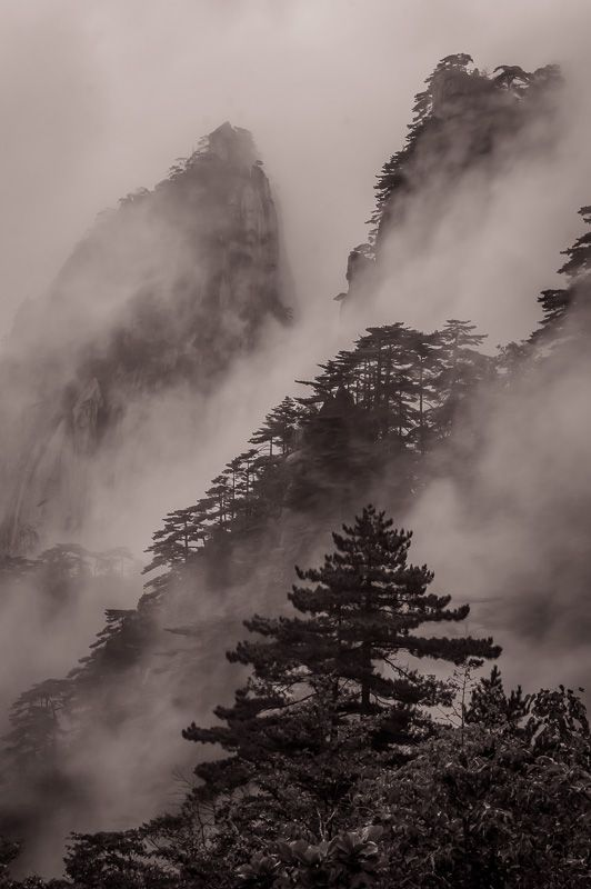 Huangshan China Sepia Collection In 2020 Nature Photography Sepia Photography Hdr Photos
