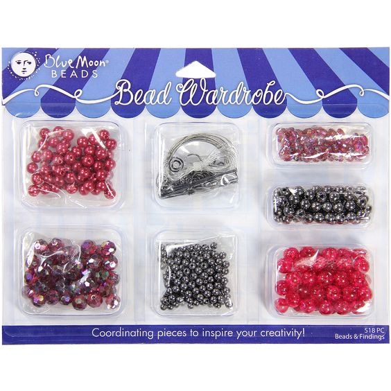 Blue Moon Bead Wardrobe Collection BeadsRed & Assorted